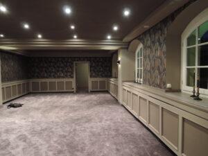 Bauphase: Teppichverlegung, Schlosshotel Hasenwinkel