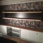 Bauphase / Einbauschrank / Bar-Gestaltung im Schlosshotel Hasenwinkel
