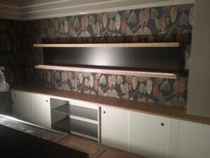 Bauphase: Einbauschrank / Bar-Gestaltung im Schlosshotel Hasenwinkel
