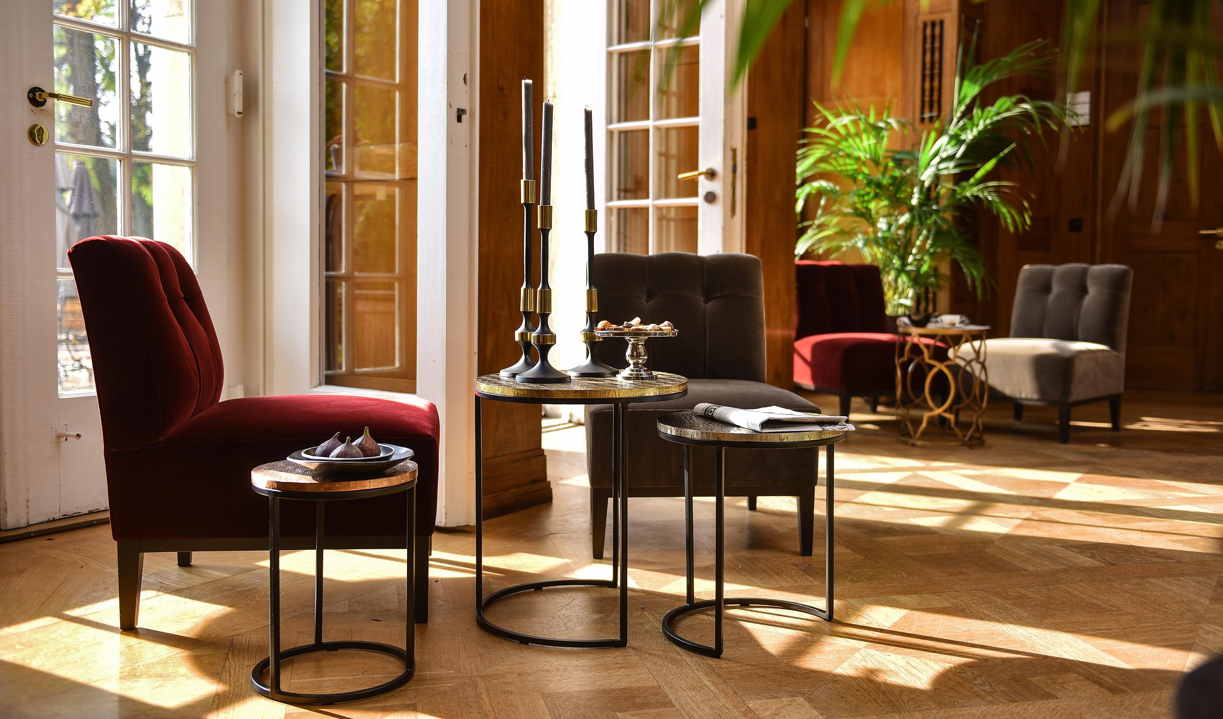 Gestaltung der Fensternischen im Schlosshotel Hasenwinkel