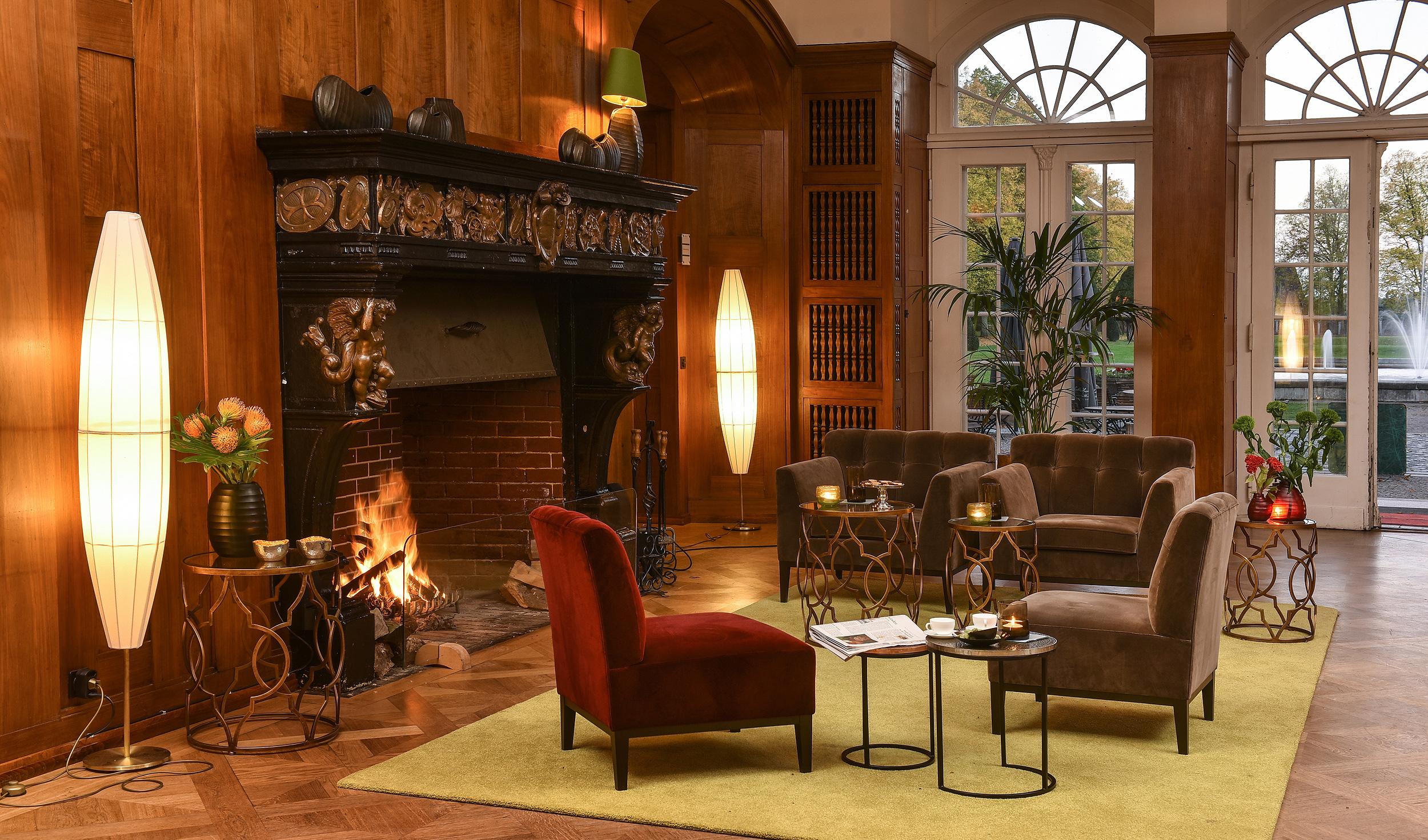 Gestaltung der Lobby im Schlosshotel Hasenwinkel